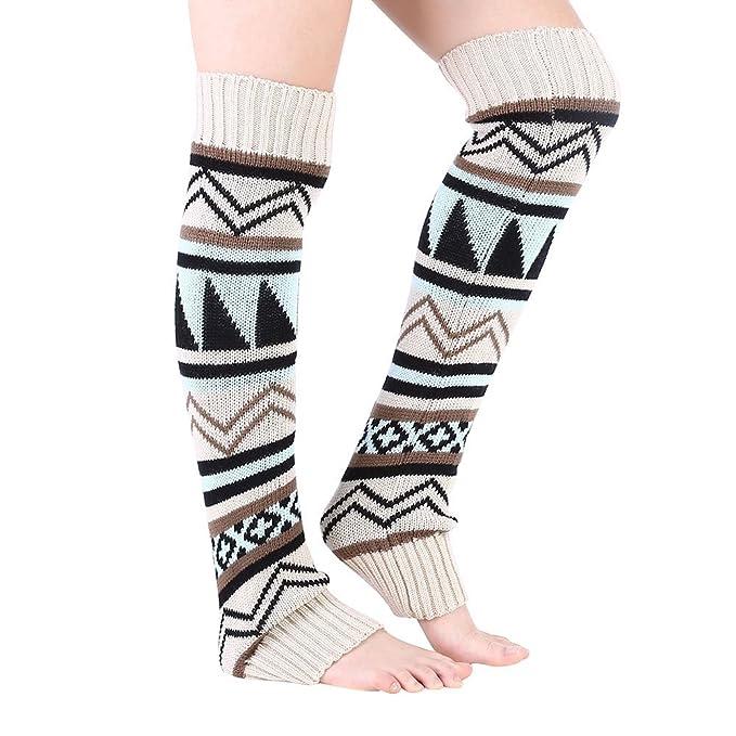 Alomejor - Calentador de piernas para Mujer, de Invierno, con Mangas ...