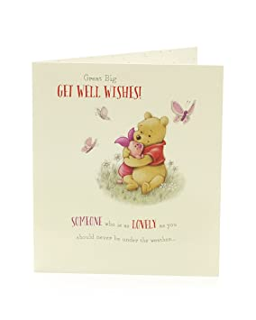 Get Well Card Get Well Soon Card Winnie The Pooh Card Piglet