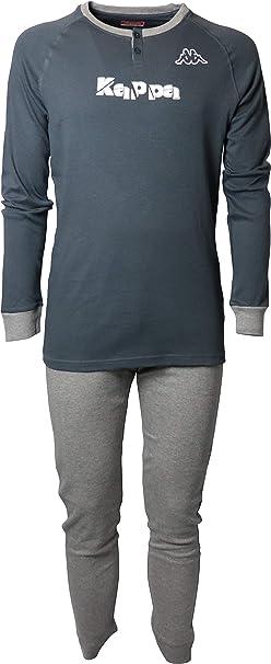 Pijama Kappa para hombre de puro algodón, camiseta de manga larga ...