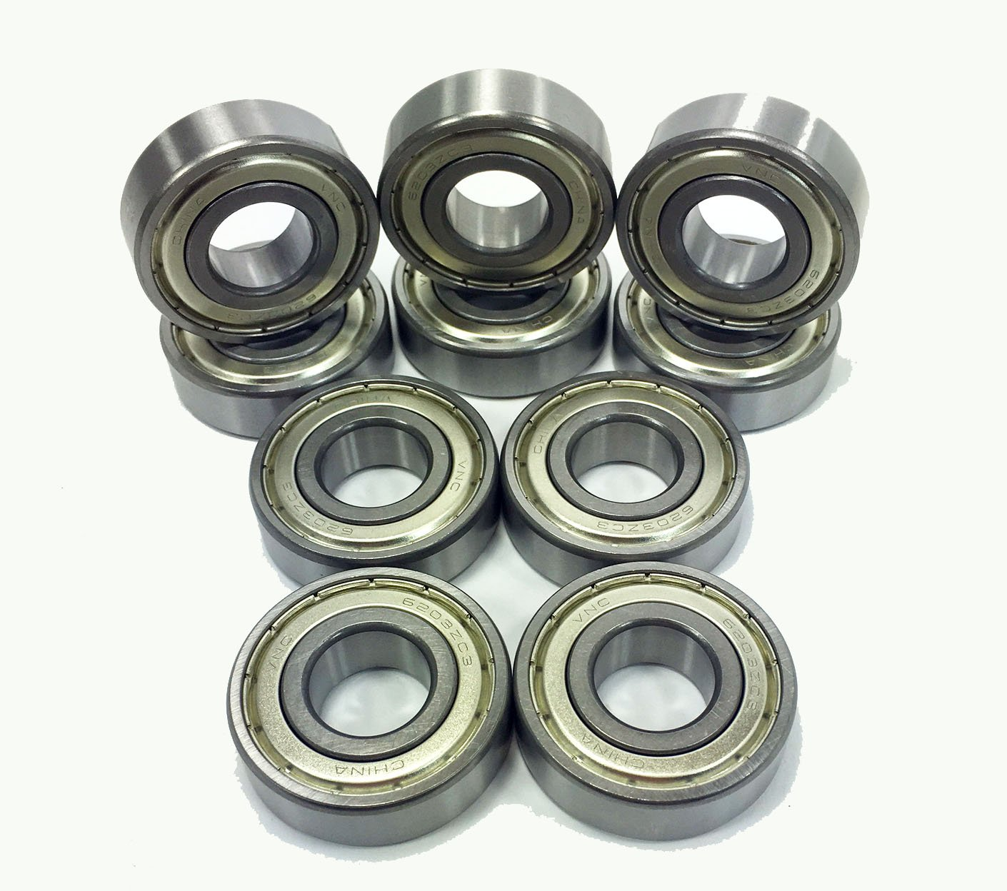 6205-ZZ Shielded Radial Ball Bearing 25X52X15 10 pack