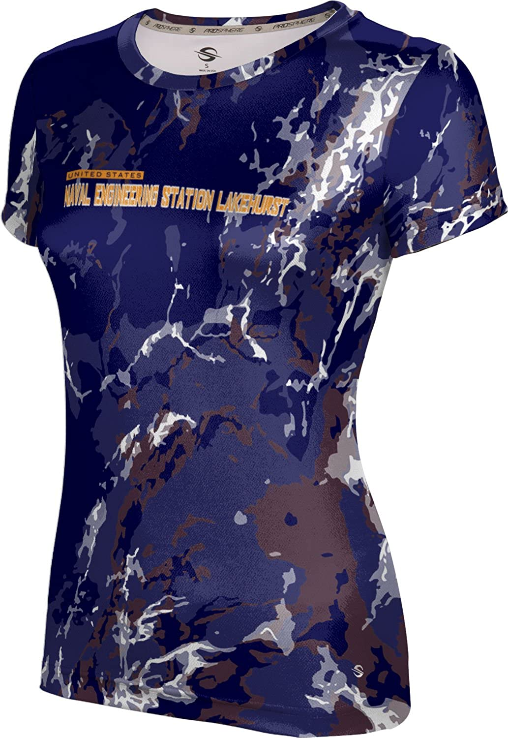 ProSphere Women's Naval Engineering Station Lakehurst Military Marble Tech Tee