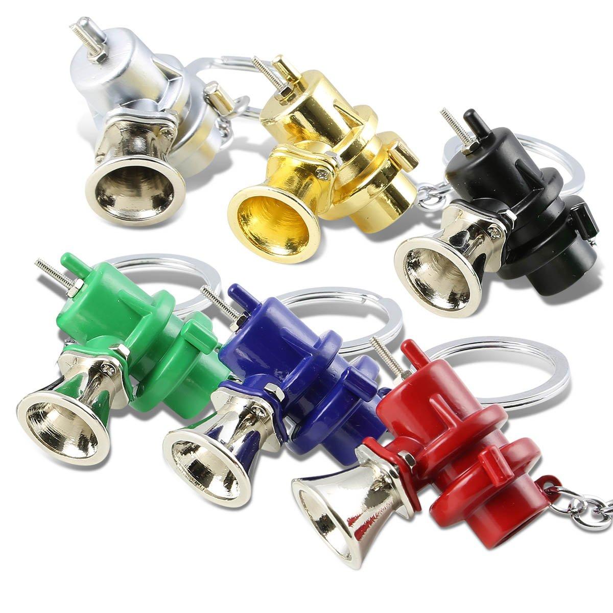 Silver DNA MOTORING KEYC-T12-SL 3D Miniature Spark Plug Style Metal Keychain