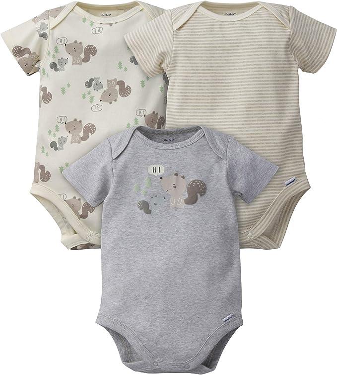 Happy Easter White Organic Gerber Baby Short Sleeve Onesie Bodysuit