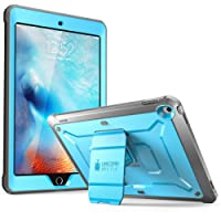 SUPCASE IPad 9.7 Case 2018/2017, Heavy Duty [Unicorn Beetle Pro Series] Full-Body Rugged Protective Case with Built-in Screen Protector Dual Layer Design for IPad 9.7 Inch 2017/2018 (Blue)