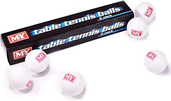 Pack of 12 Plain White Uned Table Tennis balls SS
