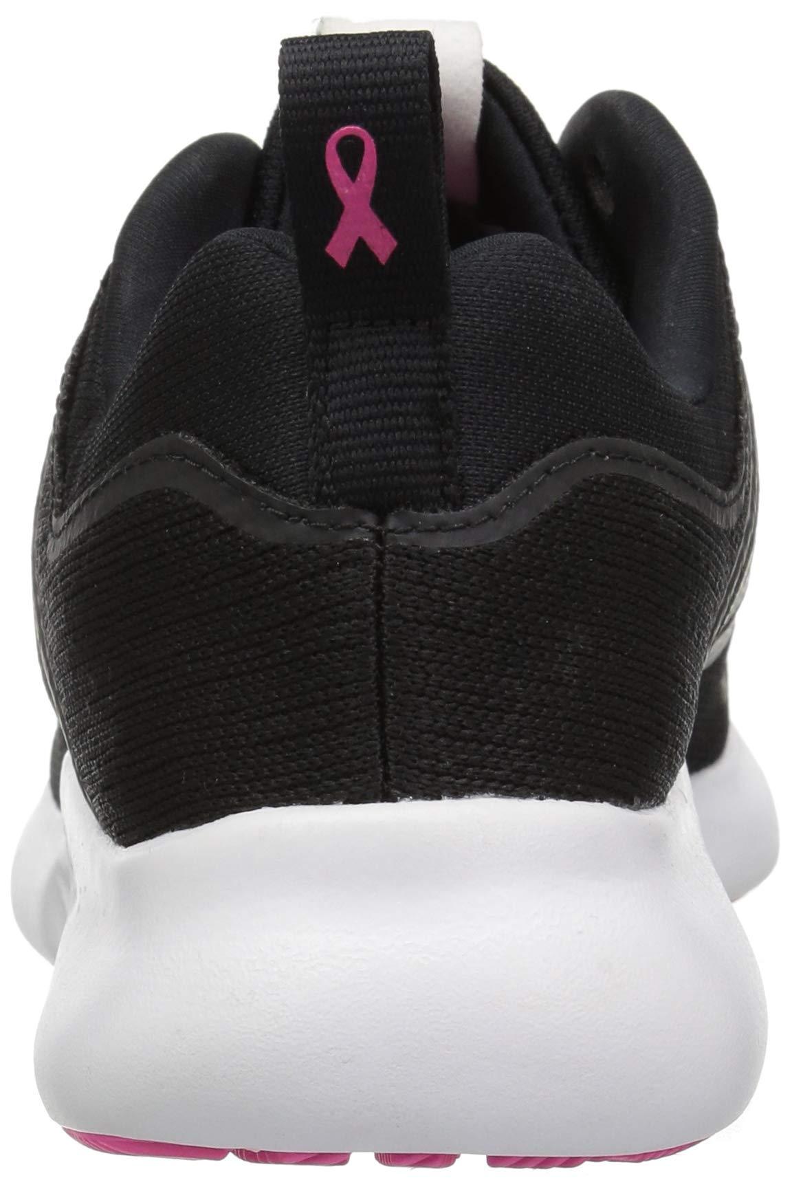 adidas Women's EdgeBounce Running Shoe, Black/Silver Metallic/Shock Pink, 5 M US by adidas (Image #2)