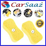 CarSaaz Super Absorbent Multipurpose Sponge for Washing Cars, Walls, Windows and Other Surfaces(Pack of 2)