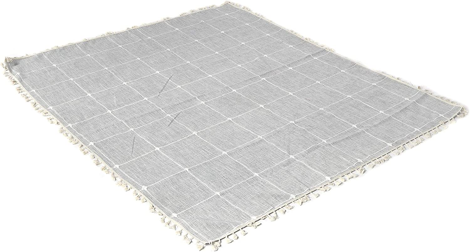 Table Cover, Eco Friendly Printing Good Texture Advanced Yarn-Dyed Technology Anti-Wrinkle Dining Table Cover, Table Cloth, for Family Dinners Daily Meals