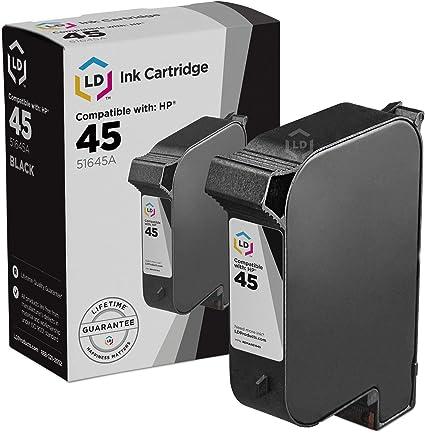 10 51645A 45 Black Printer REMAN Ink Cartridge for HP Deskjet 1220c-ps