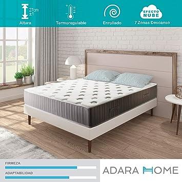 Adara Home Pandora - Colchón Viscoelástico Naturgel 150x200, Especial Transpirable y termoregulable: Amazon.es: Hogar