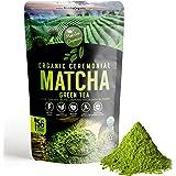 Pure Organic Ceremonial Grade Matcha Green Tea Powder Extract – 100% Natural Energy Booster from 1500+ Antioxidant – for Latt