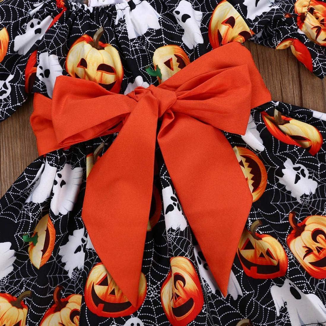 Ragazze Costume di Halloween Abbigliamento Manica Lunga Maglione Giornaliero Romper Tutina Tuta Regalo Bambino 2Pcs Bambino Felpa con Cappuccio+Pantaloni Completi Homebaby