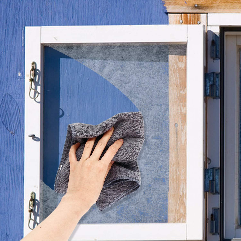 5 Grau + 5 Blau Mikrofasert/ücher Ultra Saugf/ähig Staubwischen Reinigungst/ücher Abwaschbar f/ür Fenster K/üchentisch B/üro Auto Reinigung 10 St/ück 40cm *30cm