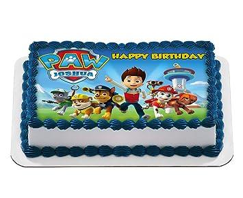 Paw Patrol Quarter Sheet Edible Photo Birthday Cake Topper