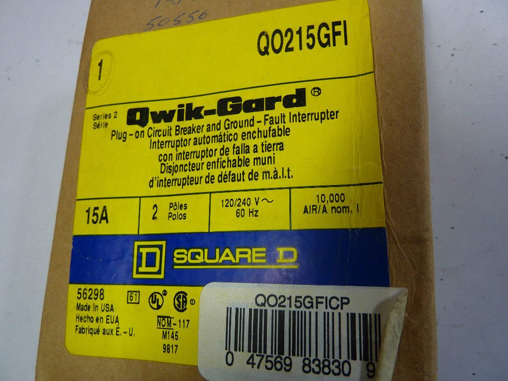 SCHNEIDER ELECTRIC Miniature Circuit Breaker 120//240-Volt 15-Amp QO215GFI Switch Fusible Hd 240V 200A 3P Neutral