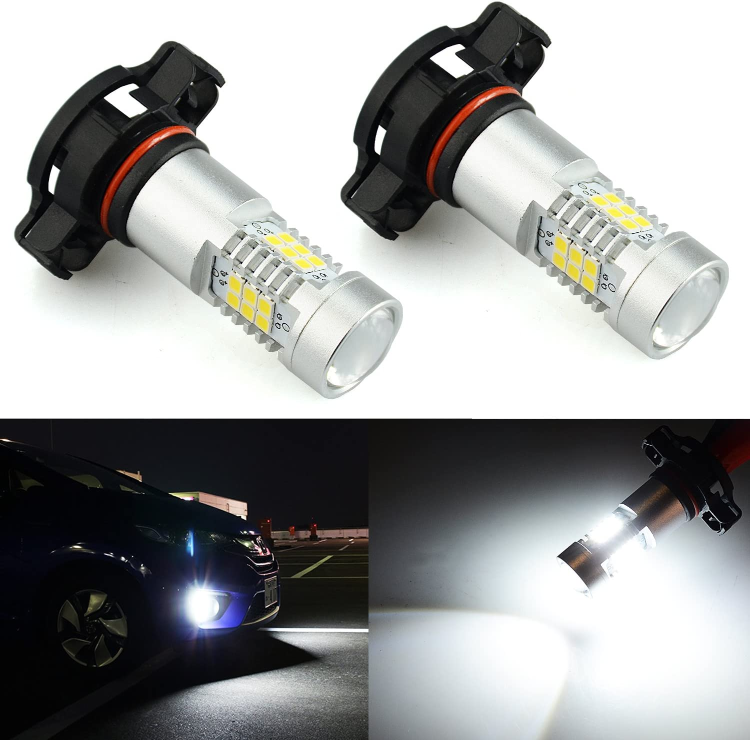 2504 Jdm Astar 2520 Lumens Extremely Bright Px Chips 2504 Pxs24w Led Fog Light Bulbs With Projector For Drl Or Fog Lights Xenon White Sareg Com