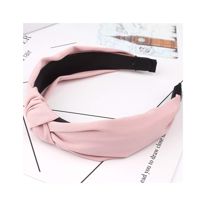 Women Bow Knot Turban Headband Women Hair Head Band Hoop Accessories Simple Headband,Pink