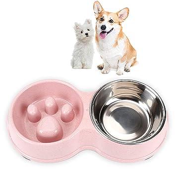 Amazon.com: Lovinouse 2 en 1 cuenco para perro, doble ...