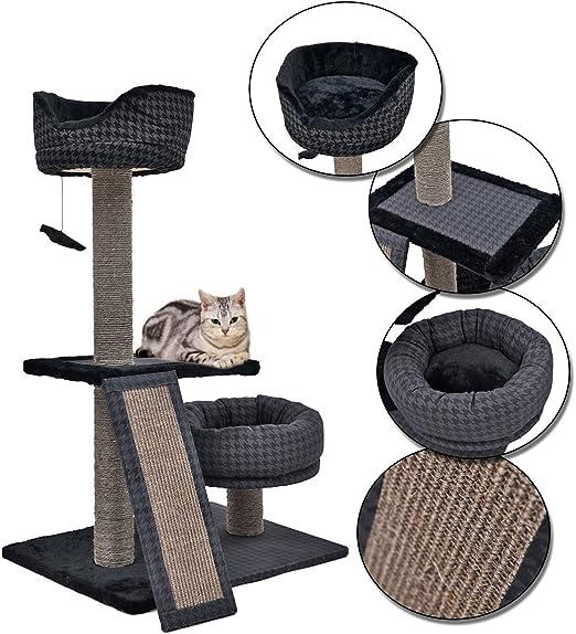 Juguete, poste, torre, árbol rascador para gatos, mueble de tamaño ...