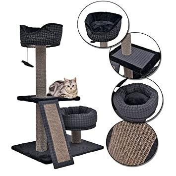 Juguete, poste, torre, árbol rascador para gatos, mueble de tamaño pequeño para gatos, con tela a cuadros. 7 estilos diferentes: Amazon.es: Productos para ...