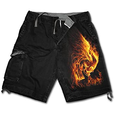 Spiral - Mens - STAINED TRIBAL - Vintage Cargo Shorts Black ...