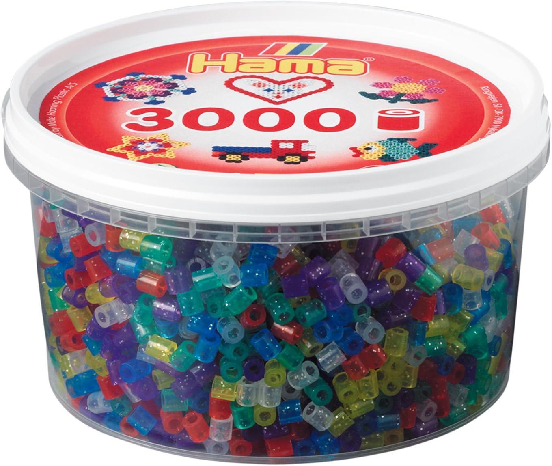 Hama 210-54 - Caja de 3000 cuentas con purpurina , color/modelo surtido: Amazon.es: Juguetes y juegos