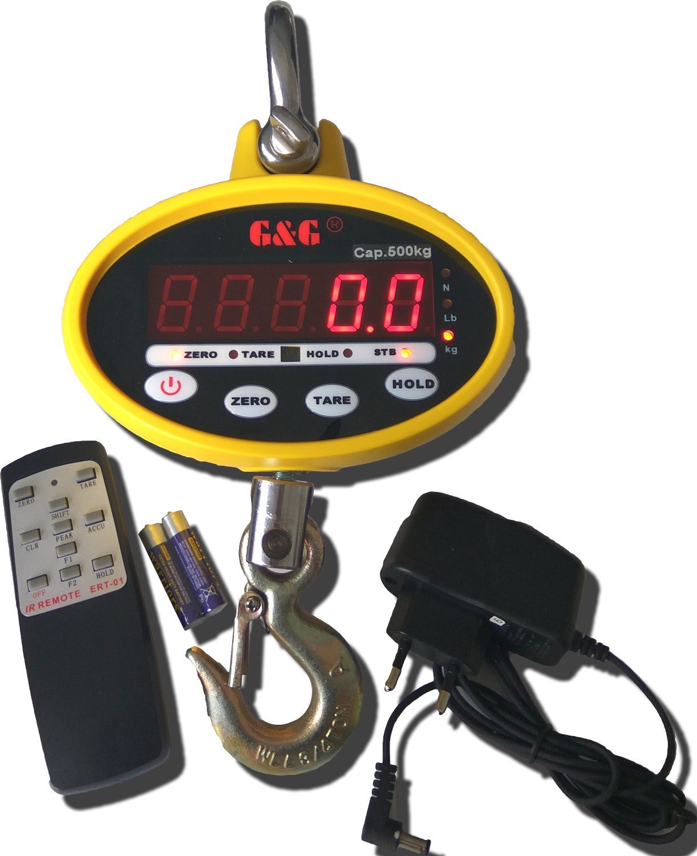 G & G OCS de SF 500 kg/0,2kg grúa - Báscula Last de con batería y mando a distancia colgante: Amazon.es: Bricolaje y herramientas