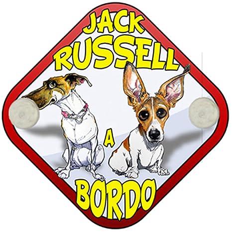 Placa bebé a bordo Jack Russell a bordo perro a bordo ...