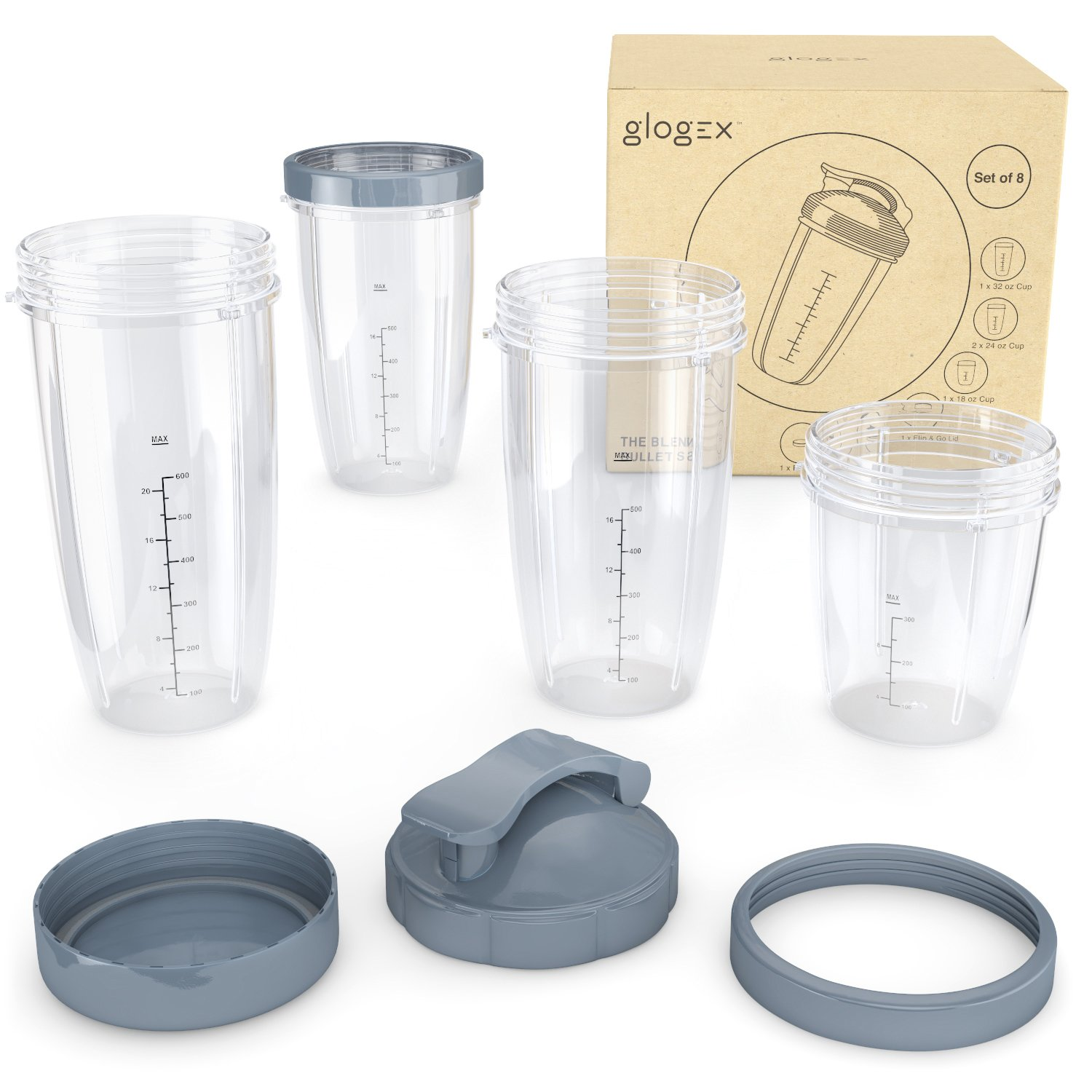 Glogex NutriBullet Replacement Cups