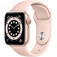 Apple Watch Series 6 40mm GPS Smartwatch (Gold Aluminum Case with Pink Sand Sport Band)