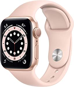 New AppleWatch Series 6 (GPS, 40mm) - Gold Aluminum Case with Pink Sand Sport Band