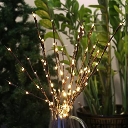 Amazon.com : Accmor 4 Pack Led Lighted Twig Branches, Battery ...