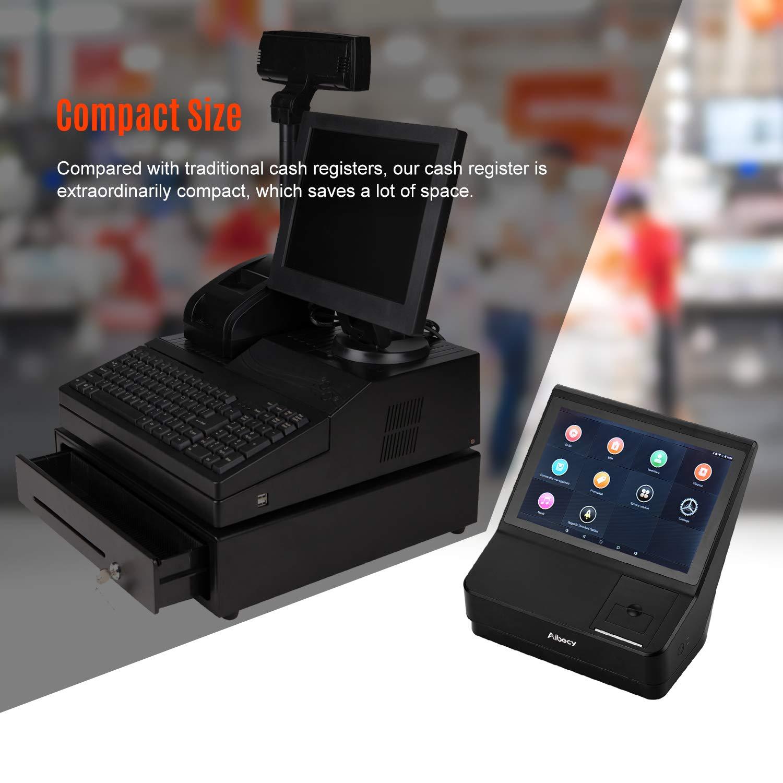Aibecy POS Registratore di Cassa telematico registratore telematico fiscale Touchscreen da 10,1 pollici Stampante per ricevute 58mm con sistema Point of Sale Supporta il sistema multilingue WiFi BT