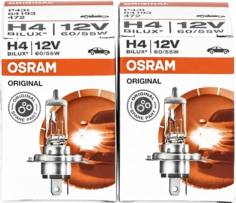 Osram H4 Original Line 12v 60 55w P43t 64193 2 Stück Lampen Autolampen Glühlampen Auto