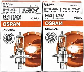 2 Stück H4 Glühlampe Glühbirne Autobirne 12V 60//55W P43t Halogen Birne