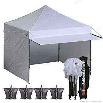 ABCCANOPY 10x10 EZ Pop up Canopy Tent Instant Shelter Commercial Portable Market Canopy with With Full  sc 1 st  Amazon.com & Amazon.com : ABCCANOPY 10x10 EZ Pop up Canopy Tent Instant Shelter ...