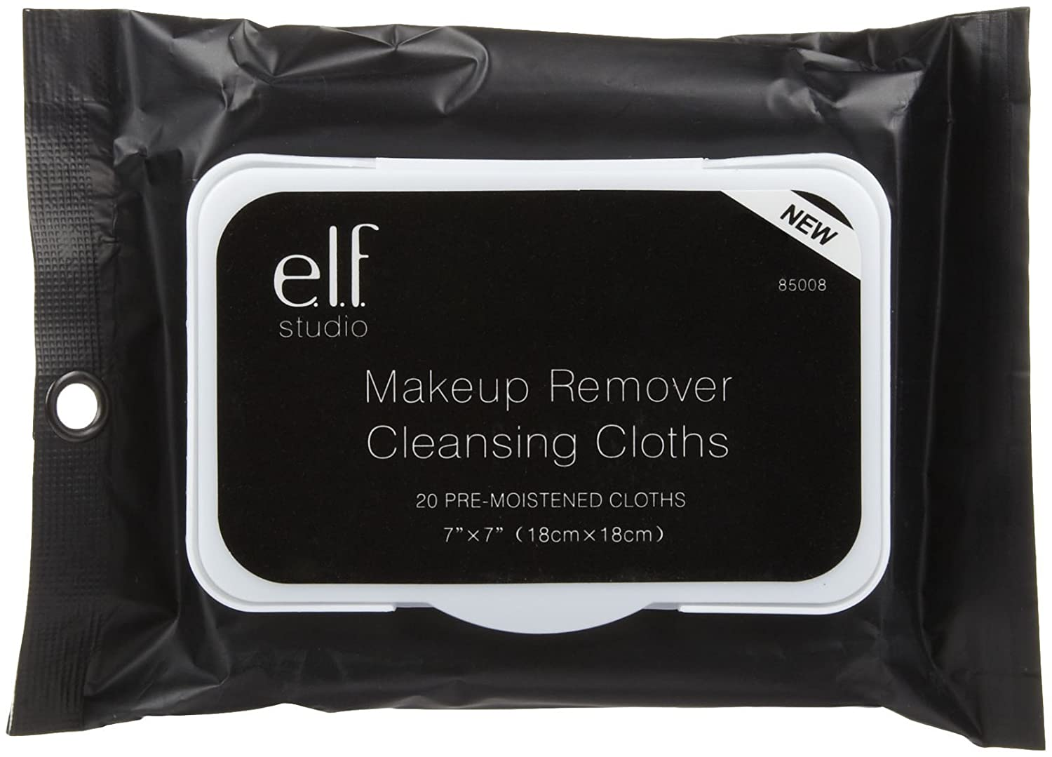 E.L.F. Cosmetics, Makeup Remover Cleansing Cloths, 20 Pre-Moistened Cloths 81415