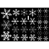 Cosanter Noël Décoration Autocollant Mural en PVC Flocon de Neige Stickers Muraux Amovible Décoration Murale pour Vitrine