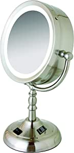 Floxite 8x/1x Daylight Lighting Cosmetic Mirror
