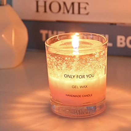 JiaQi Glass Candle HolderCreative Birthdays Candlestick Holders Aromatherapy Clear Marry Romantic Gift Pink
