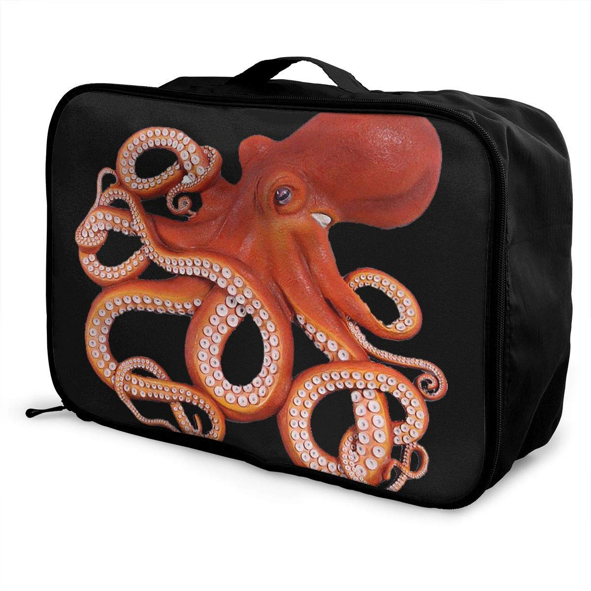 Portable Luggage Duffel Bag Octopus Travel Bags Carry-on In Trolley Handle