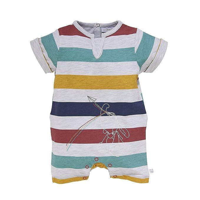 Noukies Z733135, Pelele para Dormir para Bebés, (Gris Raye), Nacimiento