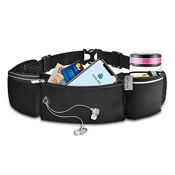 Lixada Running Hydration Belt Bottle Holder Belt Reflective Running Water Belt F