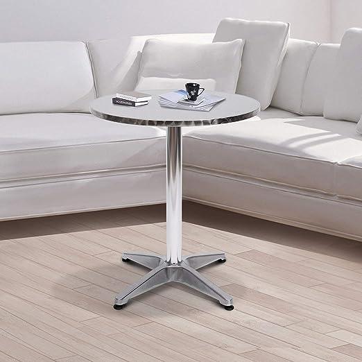HTL Hogar De gama alta Pequeña mesa redonda-Biezutu Aluminio ...