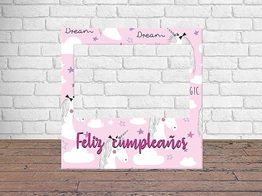 Photocall Feliz Cumpleaños Unicornios 100 x100 cm | Regalos ...