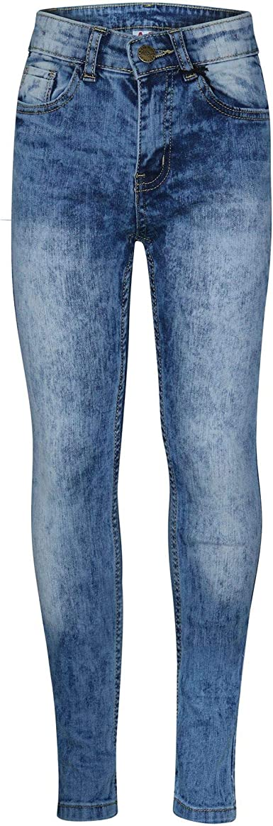 Kids Boys Skinny Jeans Designer Light Blue Denim Stretchy Pants Fit Trouser 5-13