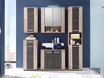 Badezimmer komplett Bad Komplettset Schrank Badezimmer Badmöbel Holz ...