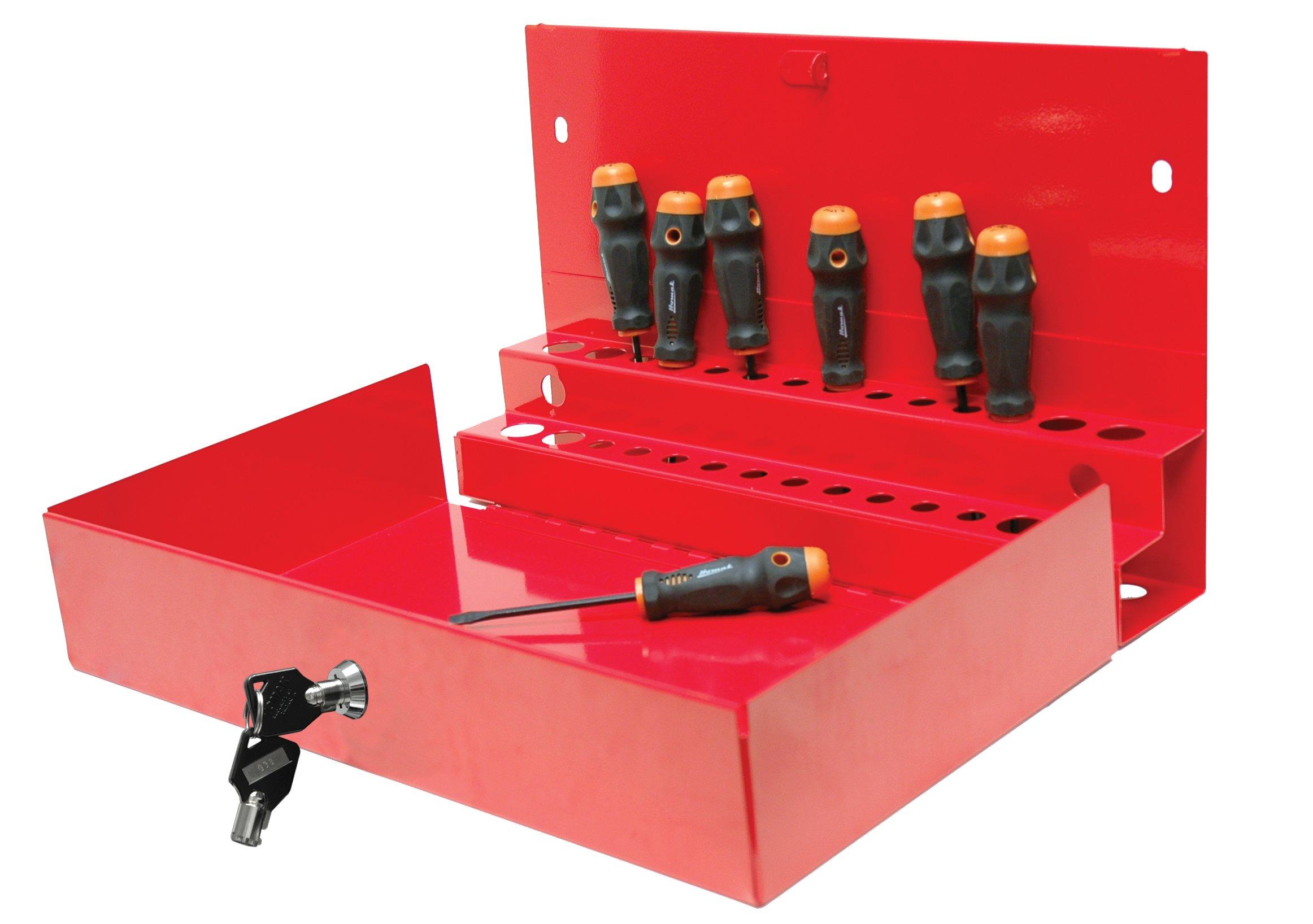Homak 27-Inch Professional Series Locking Tool Organizer, Red, RD08002601