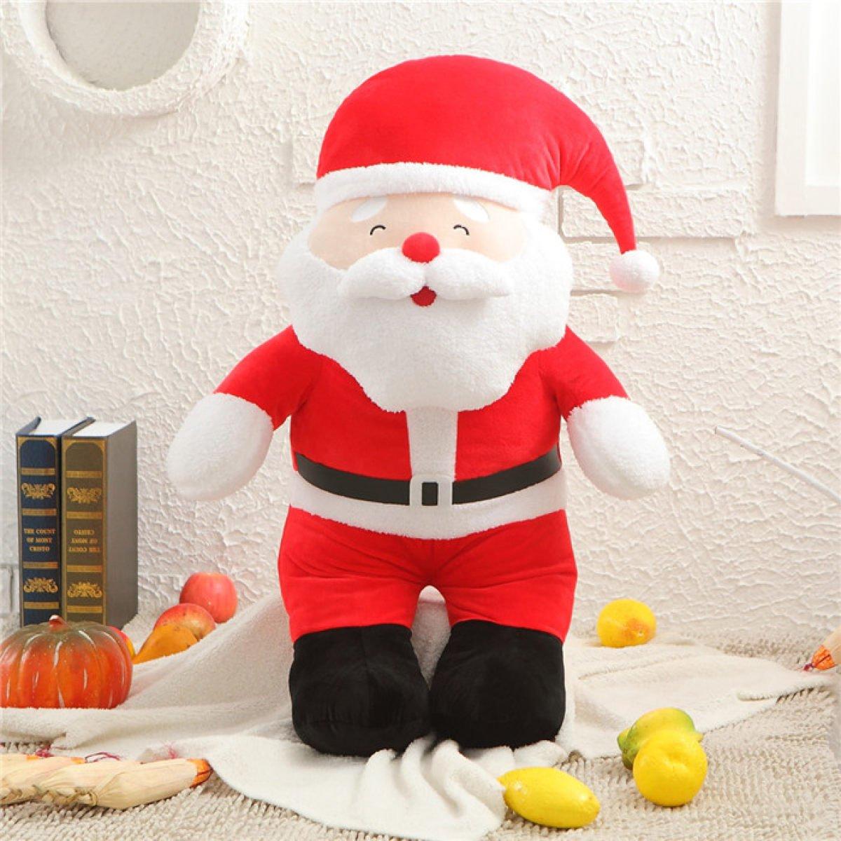 GAOQIANG Santa Puppe Stofftier Senden Mädchen Kind Rag Doll Puppe Weihnachten,80CM