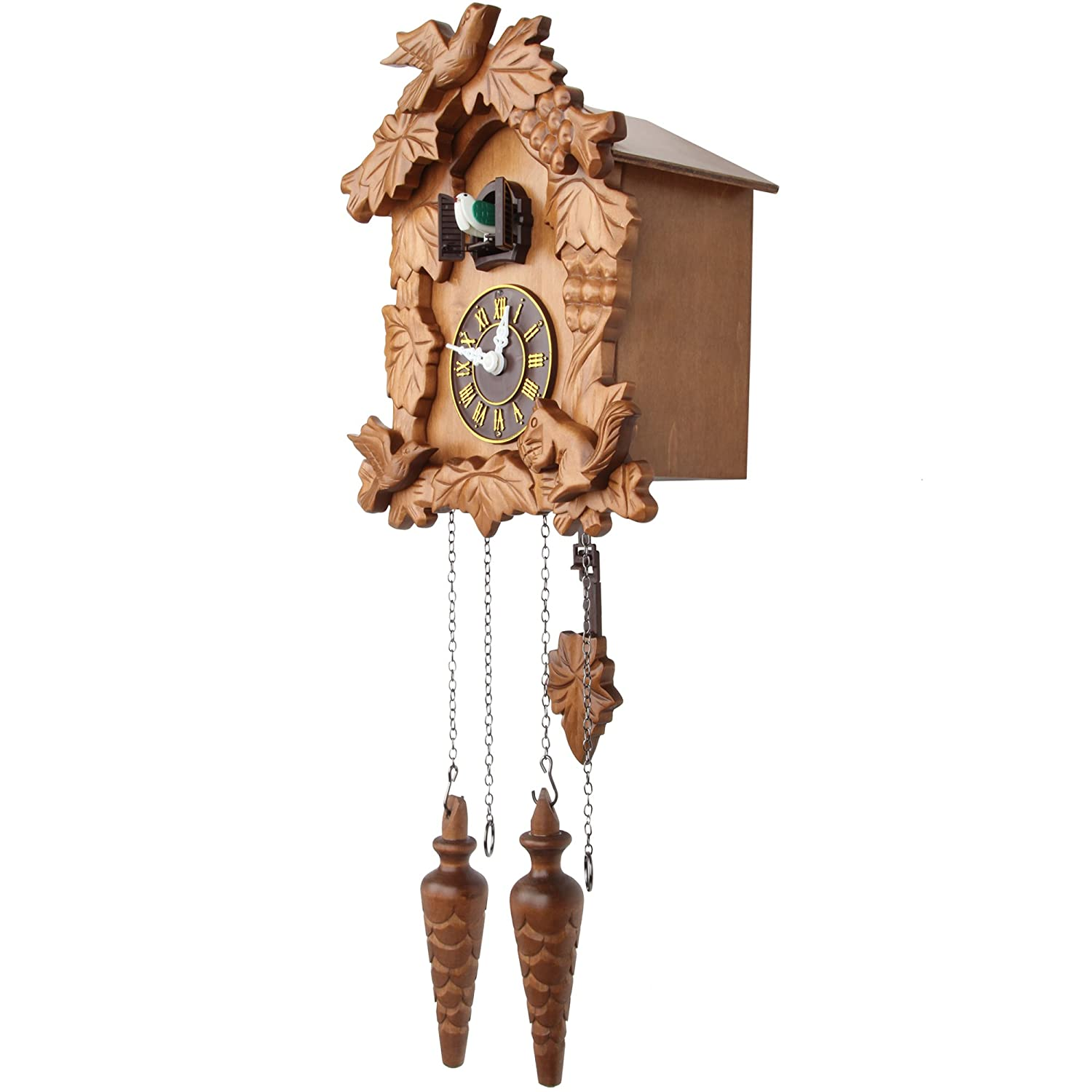 Amazoncom Kendal Handcrafted Wood Cuckoo Clock Home Kitchen